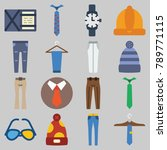 icon set about man accessories... | Shutterstock .eps vector #789771115