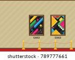 art gallery in the museum in... | Shutterstock .eps vector #789777661