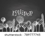 background with hand drawn... | Shutterstock .eps vector #789777745
