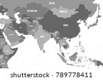political map of western ... | Shutterstock .eps vector #789778411