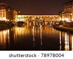 Night View Of Ponte Vecchio In...