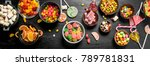 different sweet candy  jelly... | Shutterstock . vector #789781831