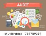 audit concept illustration.... | Shutterstock . vector #789789394