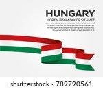 hungary flag background   Shutterstock .eps vector #789790561
