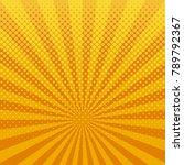 yellow shining halftone design... | Shutterstock .eps vector #789792367