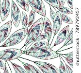 seamless floral pattern.... | Shutterstock . vector #789792457