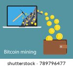 concept of cryptocurrency... | Shutterstock .eps vector #789796477