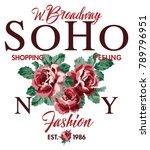 soho new york shopping feeling... | Shutterstock .eps vector #789796951