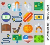 icon set about united states...   Shutterstock .eps vector #789804505