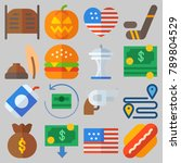 icon set about united states...   Shutterstock .eps vector #789804529