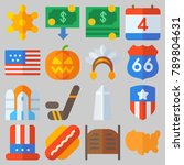 icon set about united states... | Shutterstock .eps vector #789804631