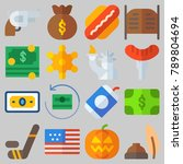 icon set about united states... | Shutterstock .eps vector #789804694