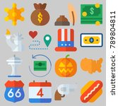 icon set about united states...   Shutterstock .eps vector #789804811