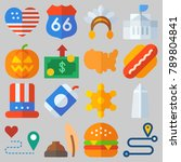 icon set about united states...   Shutterstock .eps vector #789804841