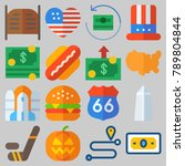 icon set about united states... | Shutterstock .eps vector #789804844