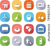 flat vector icon set   factory... | Shutterstock .eps vector #789805159