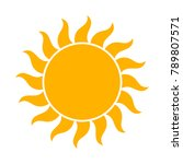 sun icon  flat design... | Shutterstock .eps vector #789807571