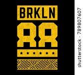 district of new york. grunge... | Shutterstock .eps vector #789807607