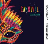 happy carnival festive concept... | Shutterstock .eps vector #789808921