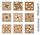 set of parquet floor  or... | Shutterstock .eps vector #789810679
