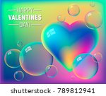 valentine's day colorful... | Shutterstock .eps vector #789812941
