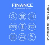 finance thin icons. finance... | Shutterstock . vector #789816817