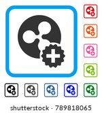 create ripple coin icon. flat... | Shutterstock .eps vector #789818065