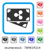 ripple banknotes icon. flat... | Shutterstock .eps vector #789819214
