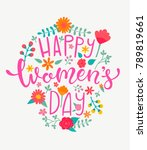 happy women's day card with... | Shutterstock .eps vector #789819661