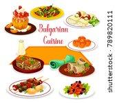 bulgarian cuisine icon of lunch ... | Shutterstock .eps vector #789820111