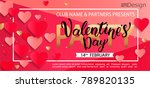 card for happy valentines day... | Shutterstock .eps vector #789820135