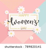 card for women's day with... | Shutterstock .eps vector #789820141