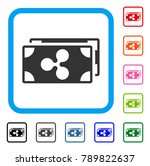 ripple banknotes icon. flat... | Shutterstock .eps vector #789822637