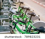 bicycle rental in row bike trip ... | Shutterstock . vector #789823231