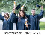 graduation celebration outdoors.... | Shutterstock . vector #789826171