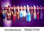 group of locked love padlocks... | Shutterstock . vector #789827959