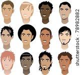 vector illustration of twelve... | Shutterstock . vector #78982882