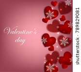 happy valentines day background ... | Shutterstock .eps vector #789829081