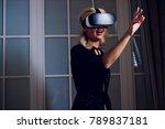 beautiful woman wearing... | Shutterstock . vector #789837181