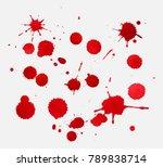 vector paint splatters.red... | Shutterstock .eps vector #789838714