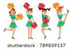female cheerleader vector.... | Shutterstock .eps vector #789839137