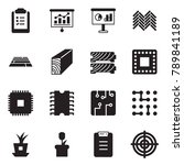 solid black vector icon set  ... | Shutterstock .eps vector #789841189