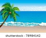 Tropical Coast. Vector...
