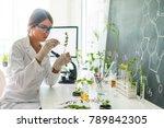 biologist in her laboratory | Shutterstock . vector #789842305