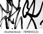 dirty glass surface. unusual ... | Shutterstock . vector #789843121