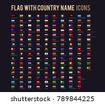 the vector flag with country... | Shutterstock .eps vector #789844225