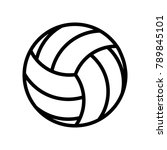 leisure   vollyball | Shutterstock .eps vector #789845101