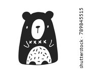 cute hand drawn nursery poster... | Shutterstock .eps vector #789845515