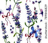 beautiful hand drawn  lavender... | Shutterstock . vector #789846829