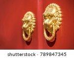 ancient chinese door knocker ... | Shutterstock . vector #789847345